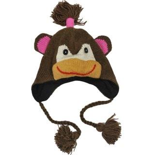 Handmade Wool Girl Monkey Jungle Beanie (Nepal)