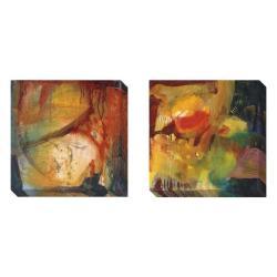 Gallery Direct Sylvia Angeli 'Eccentric Abstraction' 2-piece Canvas Art Set