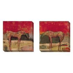 Gallery Direct Bailey 'Stable Horse' 2-piece Art Set