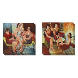 Gallery Direct Cecile Broz 'It's 5 o'clock Somewhere' 2-piece Art Set