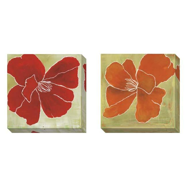 Gallery Direct Laura Gunn 'Color Study B' 2-piece Gallery Wrapped Canvas Art Set