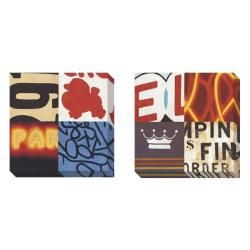 Gallery Direct Sean Jacobs 'Street' 2-piece Gallery Wrapped Canvas Art Set