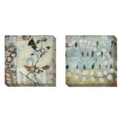 Gallery Direct Judy Paul 'Loopy Birds' Set of 2 Gallery Wrapped Canvas Art Set