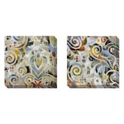 Gallery Direct Judy Paul 'Kettle On' Set of 2 Gallery Wrapped Canvas Art Set