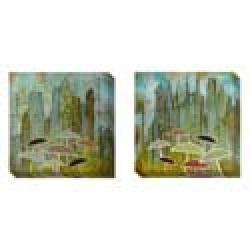 Gallery Direct Judy Paul 'Rain Again' Set of 2 Gallery Wrapped Canvas Art Set - Thumbnail 2