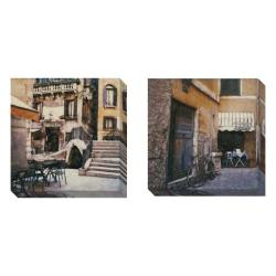 Gallery Direct Ernesto Rodriguez 'Trattoria al Ponte' Set of 2 Gallery Wrapped Canvas Art Set
