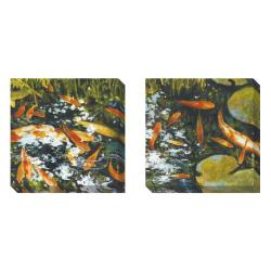 Gallery Direct St . John 'Koi' Set of 2 Gallery Wrapped Canvas Art Set