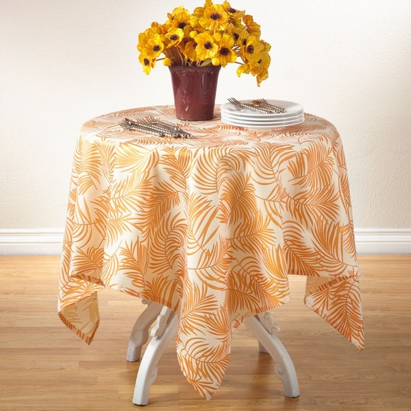 Fern Design Square Table Topper
