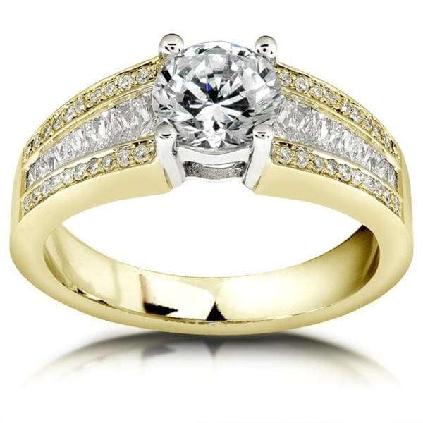 Annello by Kobelli 18k Gold 1 1/2ct TDW Diamond Engagement Ring (H-I, I1-I2)