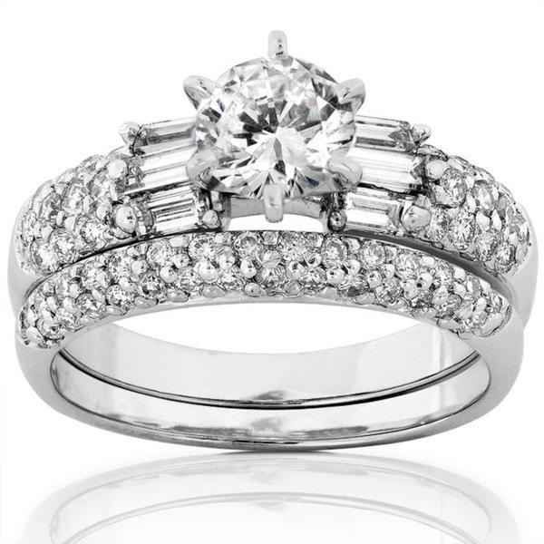 Annello by Kobelli 14k White Gold 1 3/4ct TDW Diamond Bridal Ring Set (H-I, I1-I2)
