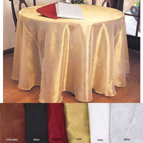 Shimmery 90-inch Round Sheer Tablecloth