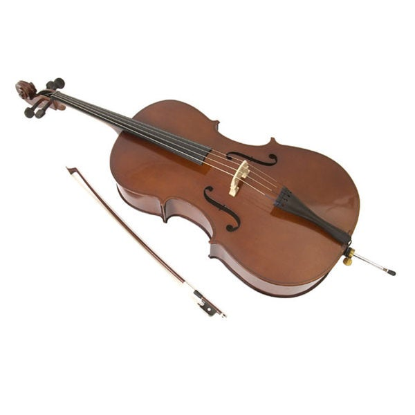 shop orchestra approved student cello set on sale free shipping today overstock 540372. Black Bedroom Furniture Sets. Home Design Ideas