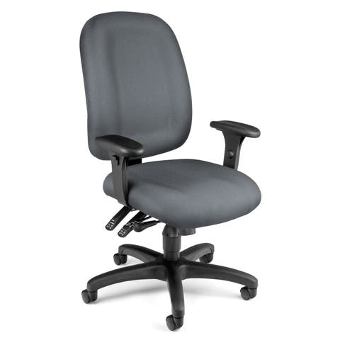 OFM Core Collection Ergonomic Task Chair with Arms, Mid Back (125)