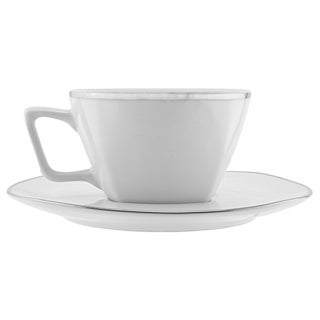 Lotus Silver Line Cup/Saucer (Set of 6)