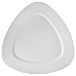 White Triangle Dinner Plate 11-inch (Set of 3)