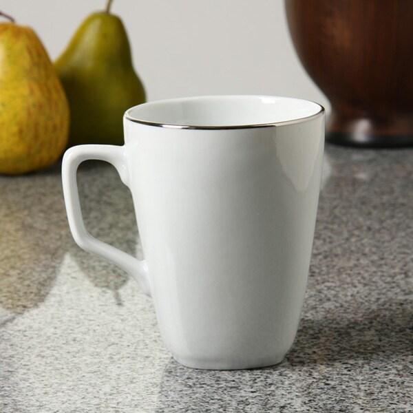 shop 10 strawberry street lotus silver line square mugs set of 6
