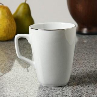 10 Strawberry Street Lotus Silver Line Square Mugs (Set of 6)