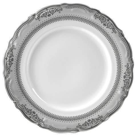 "10 Strawberry Street Vanessa Platinum 10.5"" Dinner Plate (Set of 6)"