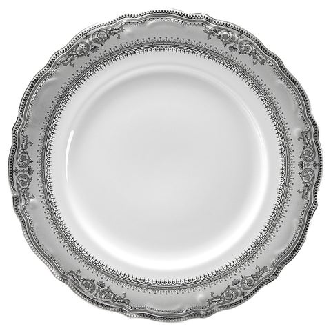 "10 Strawberry Street Vanessa Platinum 7.5"" Salad Plate (Set of 6)"