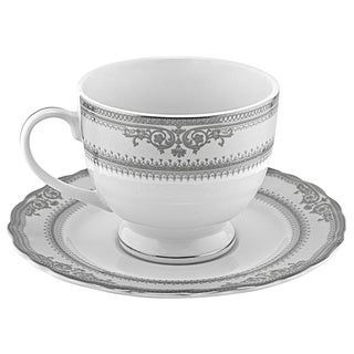 Vanessa Platinum Cup and Saucers (Set of 6)