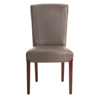 Safavieh Parsons Dining Bowery Brown Clay Leather Dining Chairs (Set of 2)