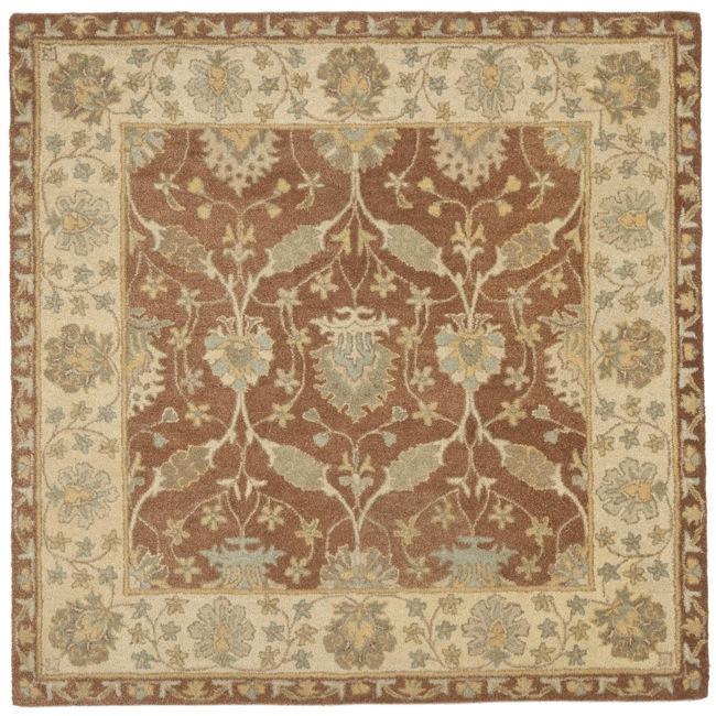 Safavieh Handmade Farahan Brown Taupe Wool Rug 8 Square