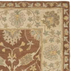 Safavieh Handmade Farahan Brown/ Taupe Wool Rug (8' Square)