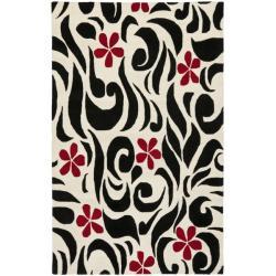 Safavieh Handmade Soho Floral Ivory New Zealand Wool Rug (3'6 x 5'6')