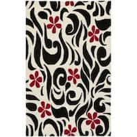 Safavieh Handmade Soho Floral Ivory New Zealand Wool Rug - 5' x 8'