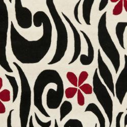 Safavieh Handmade Soho Floral Ivory New Zealand Wool Rug (7'6 x 9'6)