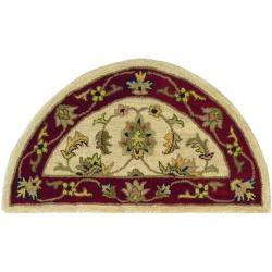 Hand-tufted Ivory/ Red Wool Rug (2'3 x 3'10)