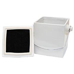 Le Chef French White Ceramic Square 1.5-gallon Compost Pail - Thumbnail 1
