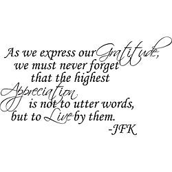 Design on Style Decorative 'As We Express Our Gratitude' Vinyl Wall Art Quote
