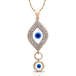 Victoria Kay 14k Yellow Gold 1/3ct TDW Diamond Evil Eye Necklace