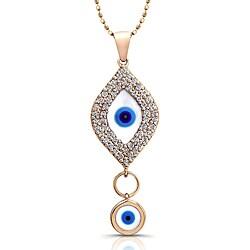 Victoria Kay 14k Yellow Gold 1/3ct TDW Diamond Evil Eye Necklace
