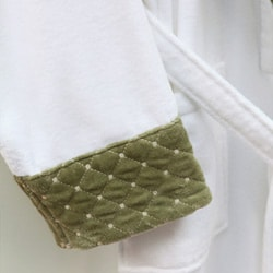 Ultra Plush Authentic Hotel and Spa Unisex  Green Bath Robe - Thumbnail 1