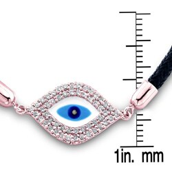 14k Rose Gold 1/3ct TDW Diamond Evil Eye Bracelet (I-J, I2-I3)