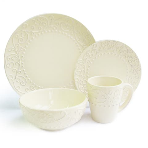 American Atelier Bianca Cream 16-piece Dinnerware Set