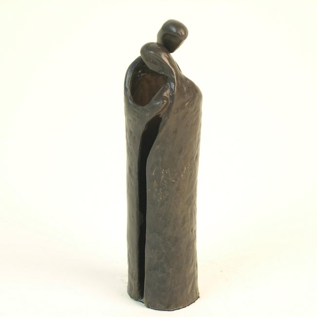 Danya B Couple Embrace Cast Bronze Sculpture