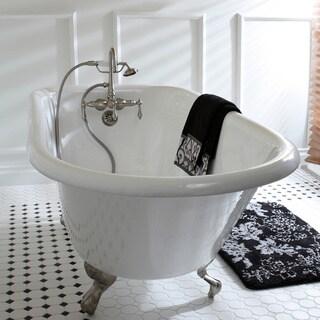 Americana Wallmount Satin Nickel Clawfoot Tub Faucet