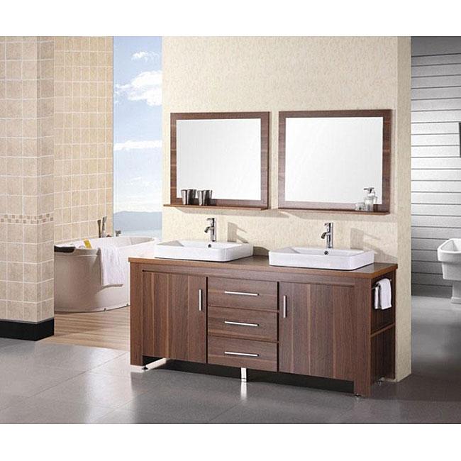 Design Element Altima 72 Inch Double Sink Bathroom Vanity Set
