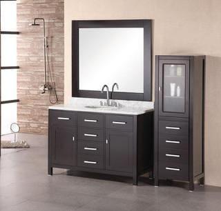 Design Element London Single Sink Espresso Bathroom Vanity Set