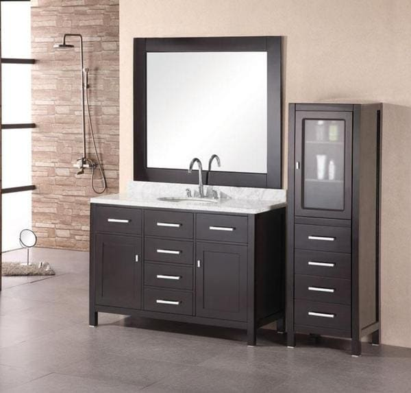 Design Element London Single Sink Espresso Bathroom Vanity Set. Design Element London Single Sink Espresso Bathroom Vanity Set
