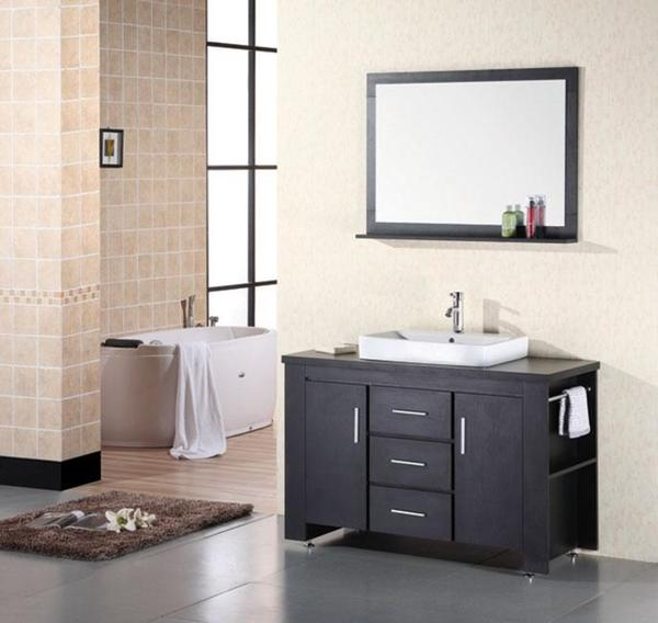 Design Element Franklin 48 Inch Modern Bathroom Vanity Set
