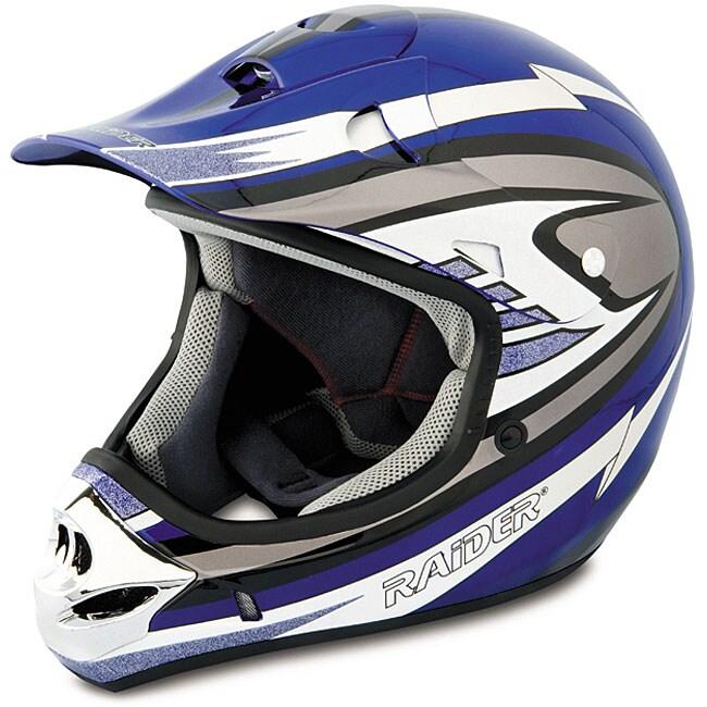 Raider Adult Blue MX 3 Helmet