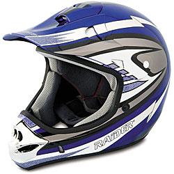Raider Adult Blue MX 3 Helmet - Thumbnail 0