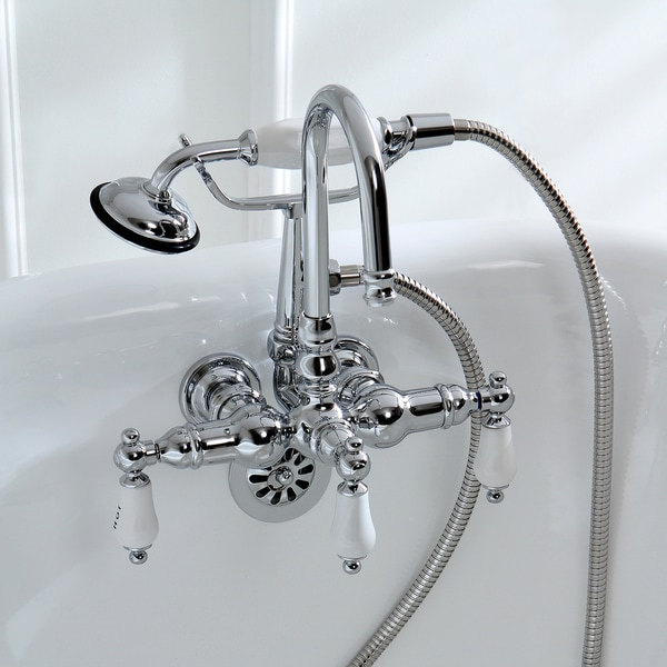 Americana Wall-mount Chrome Clawfoot Tub Faucet