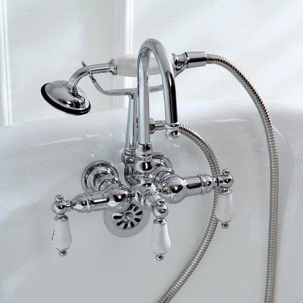 Americana Wall Mount Chrome Clawfoot Tub Faucet Free Shipping Today Overs