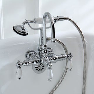 Tub Wall Mount Chrome Clawfoot Tub Faucet - Free Shipping Today ...