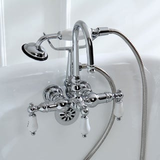 Inches Bathroom Faucets Shop The Best Deals For Oct - Wall mount bathtub faucet with diverter